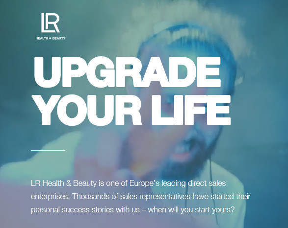 LR image UPGRADE YOUR LIFE to signify LR health and beauty systems