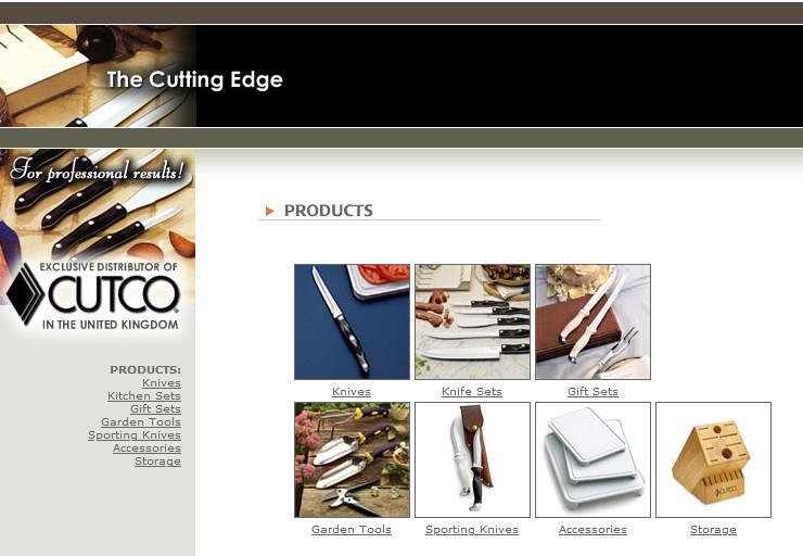 Cutco cutlery official website homepage