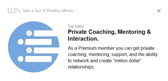 Benefit from private coaching, mentoring, support, and profitable networking with other Wealthy Affiliate members is the 16th of the 16-Step Tour of Wealthy Affiliate to Learn About the System.