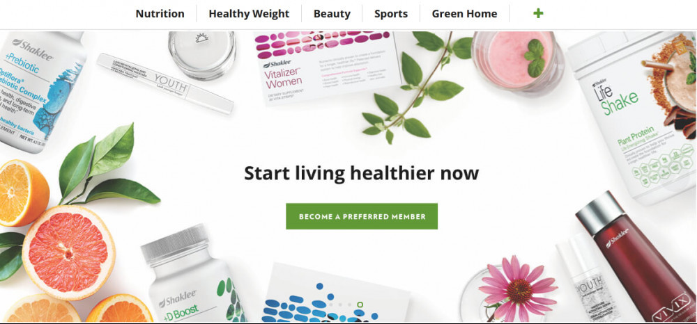 Shaklee products with words 'Starting living healthier now' to signify Youngevity versus Shaklee