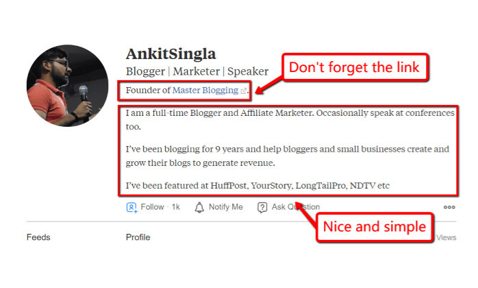 Quora description of AnkitSingla 2