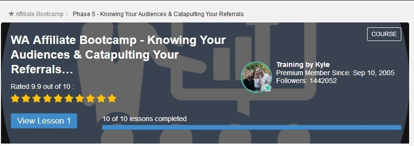 image Affiliate bootcamp Phase 5 Knowing your audiences and catapulting your referrals meaning Can You Make Money with Wealthy Affiliate Without a Premium Membership?