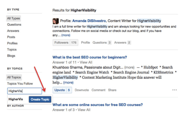 Quora How to focus on your brand name directly