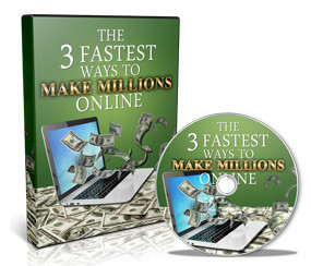Book and CD labelled 'The fastest ways to make millions online' for Total Money Magnetism Review