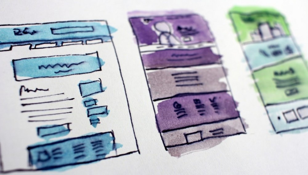 Drawings of websites structures to say Make websites for others and earn money for free