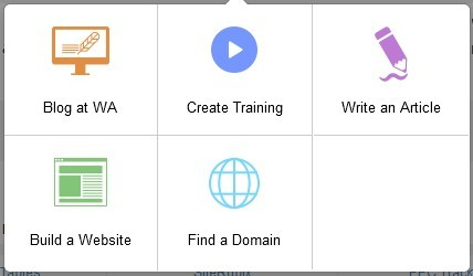 Image showing where to find a domain on Wealthy Affiliate