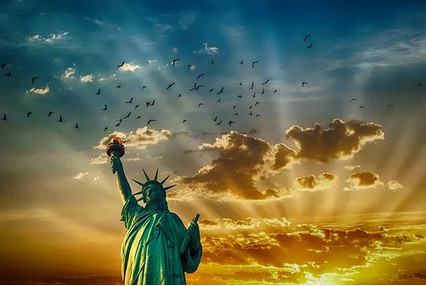 Statue of liberty to signify independence