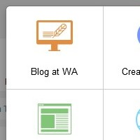 Wealthy Affiliate interface saying Blog at WA showing the service offered premium members to blog