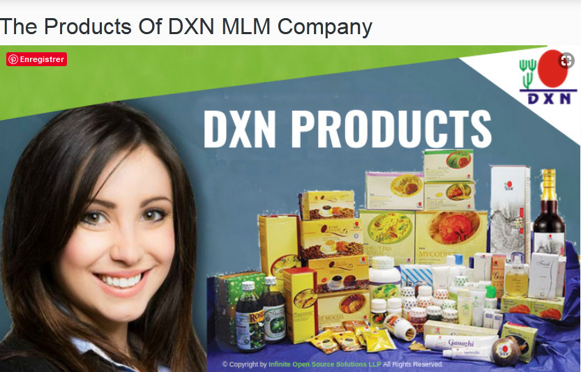 Smiling woman beside DXN products to signify DXN Global versus Vestige Marketing