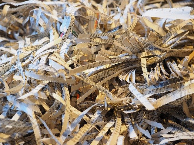 Shredded paper to signify The E-Factor Diet Articles - 5 STEPS TO SHREDDED
