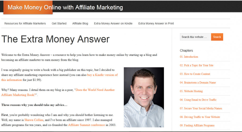 Extra money answer homepage