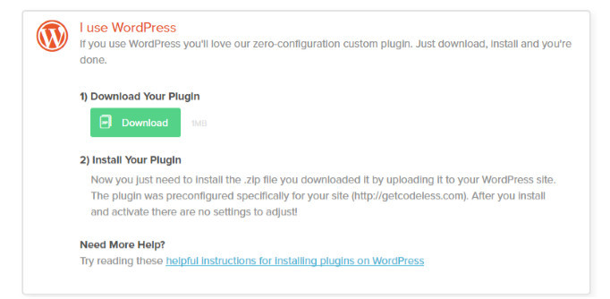 Hello bar head to your settings on the dashboard and install the WordPress plugin