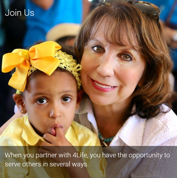 4Life opportunity showing a woman and a child