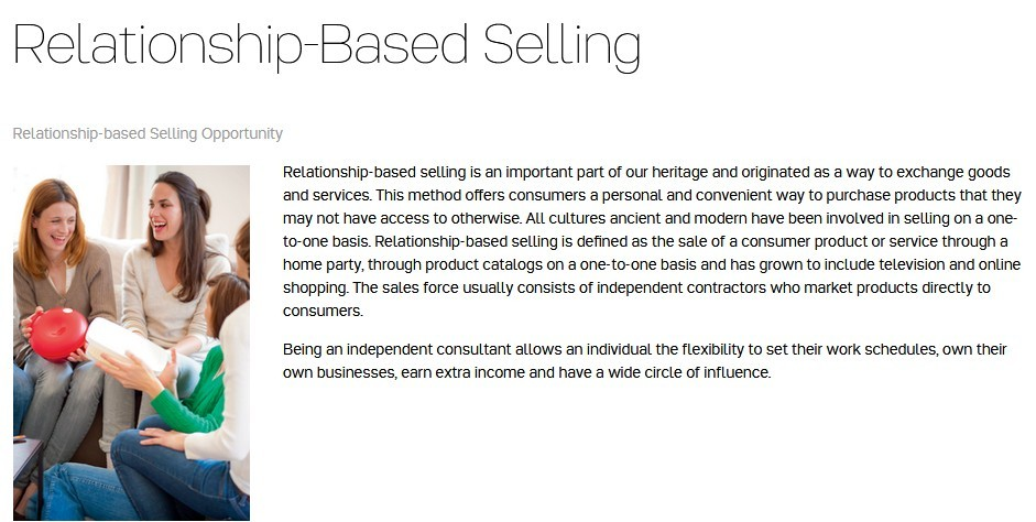 Tupperware relationship selling as marketing opportunity