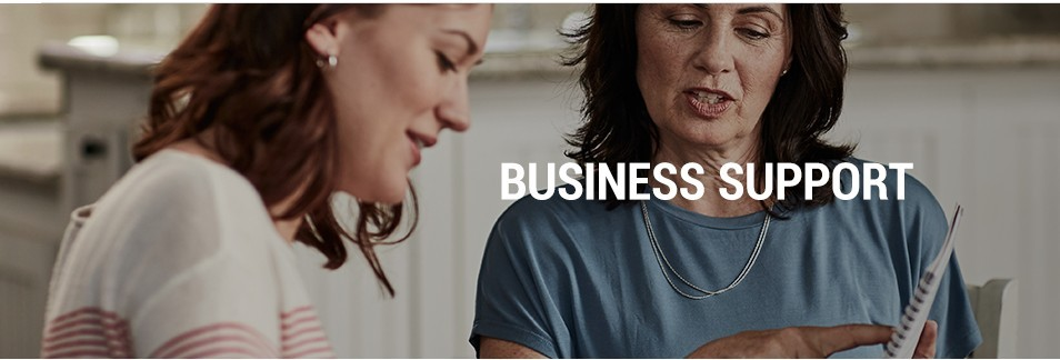 Amway business support showing 2 women discussing