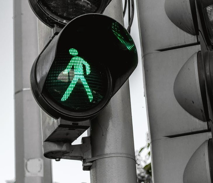 Green traffic light to signify before you go off my site