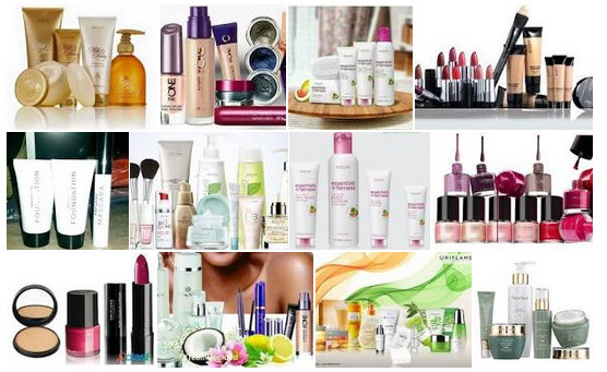 Photos of numerous oriflame cosmetics products to signify 19 mlm companies we reviewed and recommended in 2019