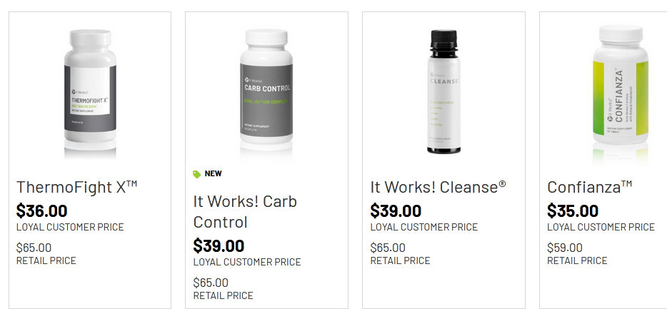 It works best selling products such as thermoFightX, It works! carb control, etc