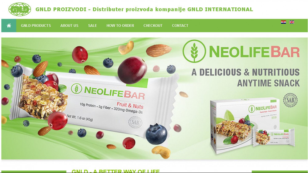 GNLD prducts such as Neolife bar