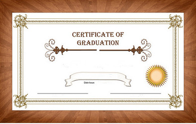 Certificate of graduation to signify academic performance