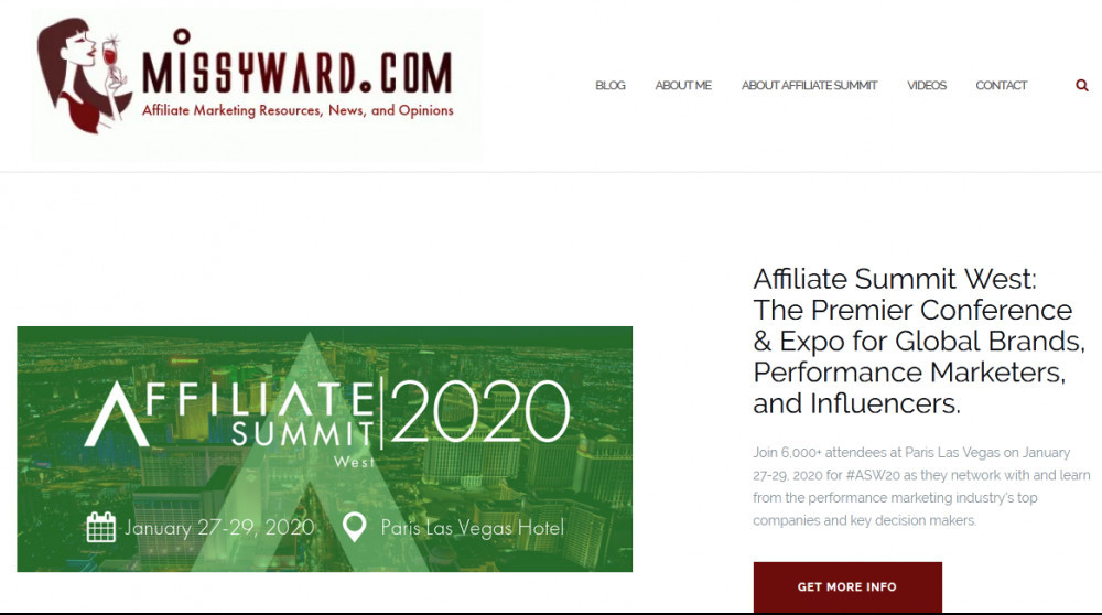 Missyward homepage