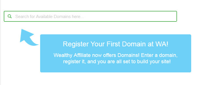 Register yourdomain at Wealthy Affiliate