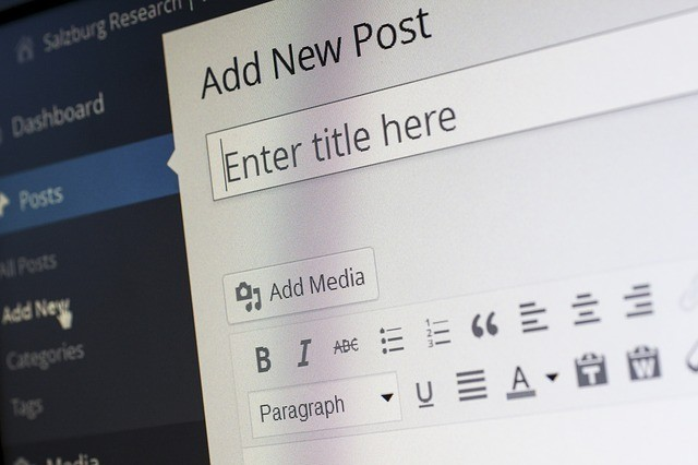 WordPress posting dashboard as Blogging to earn from home