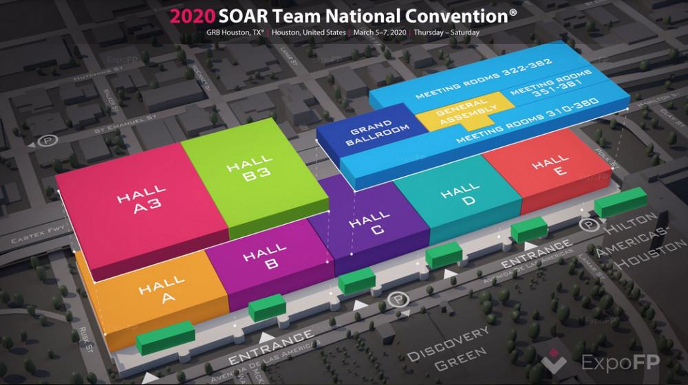 2020 SIAR Team National Convention showingthe exhibition halls