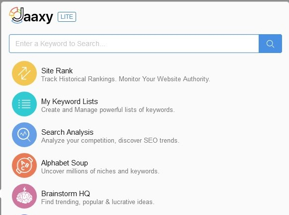 Wealthy Affiliate's Jaaxy keyword research tool
