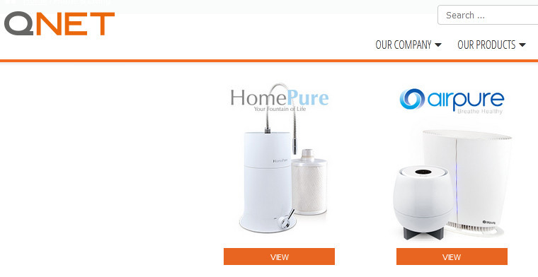 QNET products suchas HomePure and AirPure
