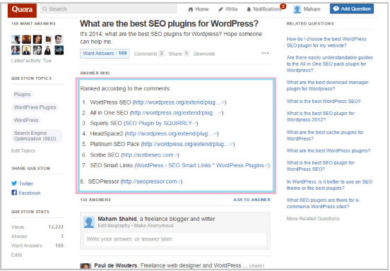 Search for SEO, which got the question in the image