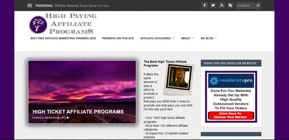 High Paying Affiliate Programs homepage