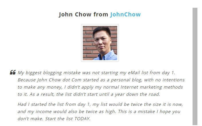 John Chow's experience with email