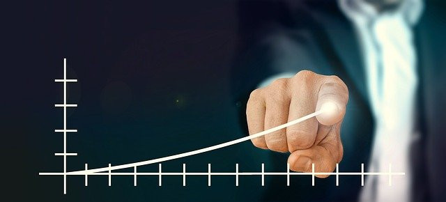 Rising graph to show profitability