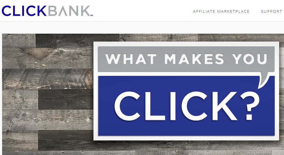 ClickBank image 'what makes you click?' for Review: does clickbank work?