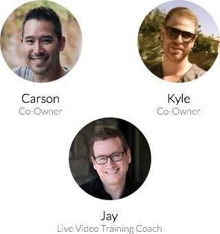 Passport pictures of Carson (wealthy affiliate co-owner), Kyle (wealthy affiliate co-owner) and Jay (live video training coach) as wealthy affiliate live help available to premium members from the ownere