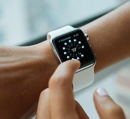 Digital watch on a wrist