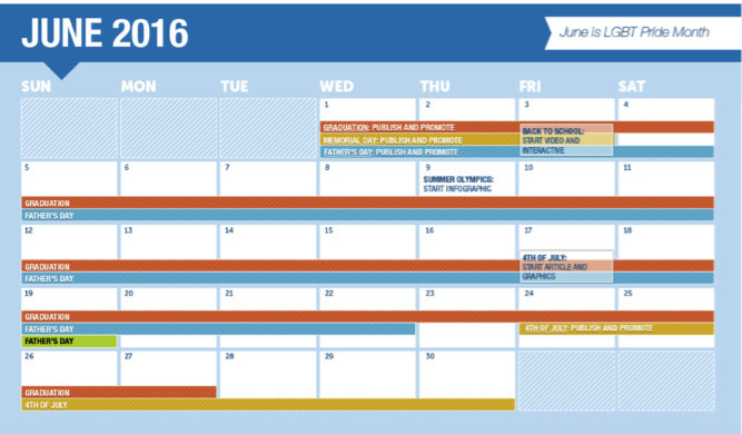 Alexa's 2016 seasonal content publishing calendar