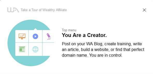 As a creator you can post on your WA blog, write an article to post to your own domain blog, build a website or find a perfect domain name.