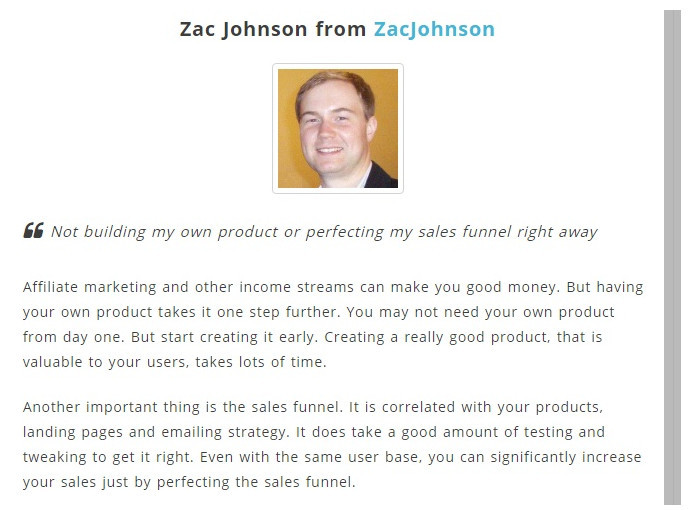 Zac Johnson from ZacJohnson on selling hown products
