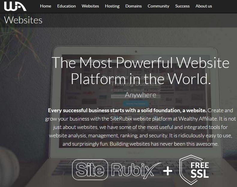 Wealthy Affiliate SiteRubix powerful website builder details