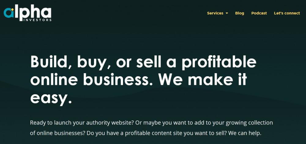 Alpha investors homepage