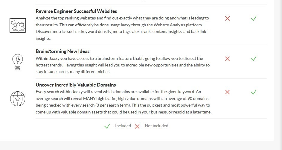 Image 2 of Jaaxy keyword, niche and website research such as jaaxy - keyword, niche and website research, siterank, tracking your website rankings, niche revelation and discovery, reverse engineer successful websites, brainstorming new ideas, uncover incredibly valuable domains.