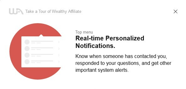 Real-time personalized notifications enable you to know instantly when someone has contacted you, responded to your question, etc.