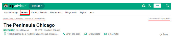 Clear website navigation menus