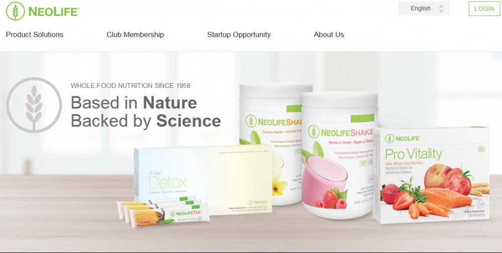GNLD (Neolife) official website homepage