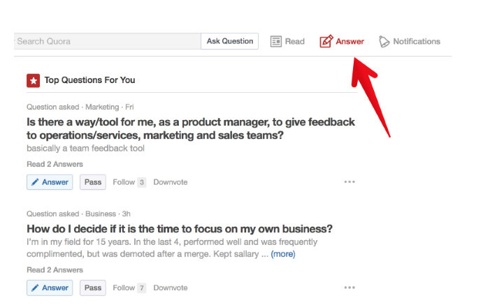 Finding the best questions to answer on Quora's Top Questions for you