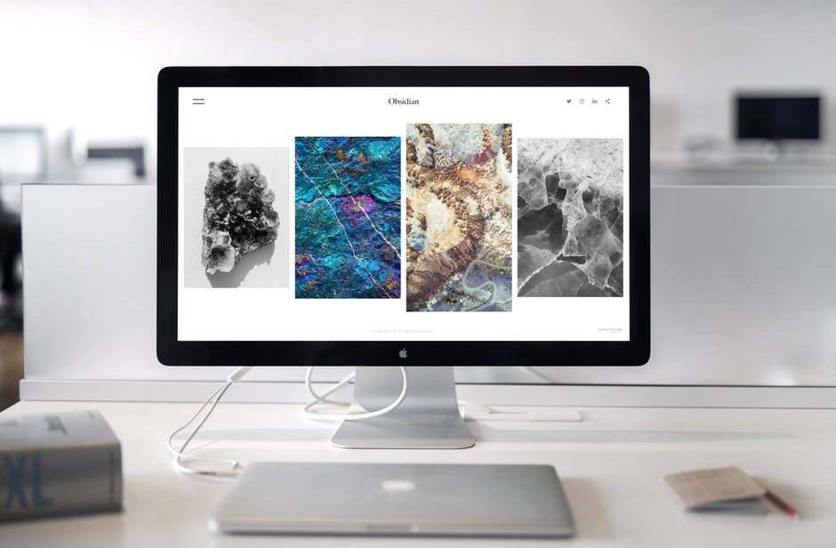 Images on a desktop screen to signify affiliate marketing website