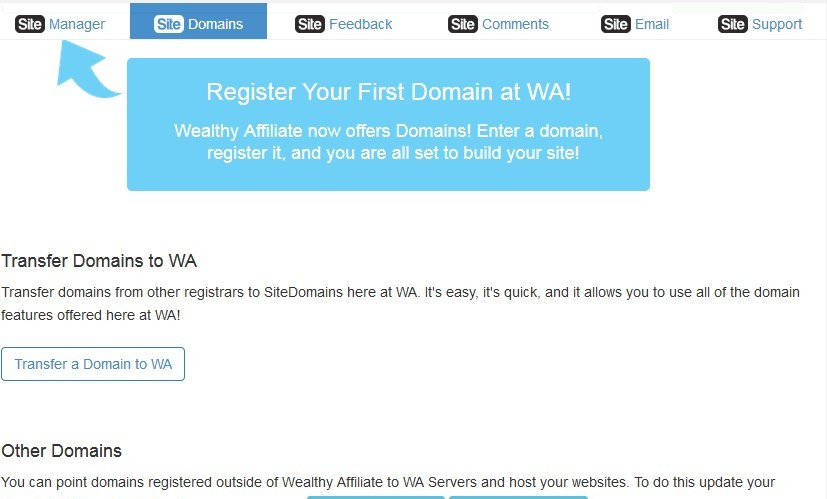 SiteDomain for registering your domains, transferring them and pointing to them