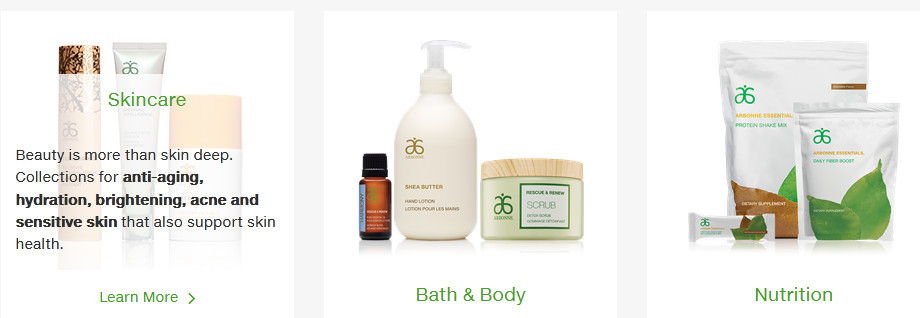 Arbonne skincare, bath & body and nutrition products for Arbonne review